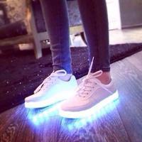 7 Colors LED Luminous Men Casual Unisex Men & Women Casual USB Charging Light Colorful Glowing Leisure Flat Shoes 76