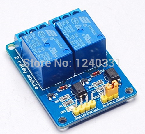 20PCS 2-channel New 2 channel relay module relay expansion board 12v low level triggered 2-way relay module for arduino(China (Mainland))