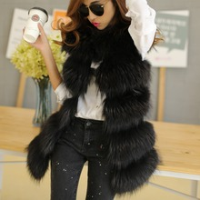 2015 fashion Lady Raccoon Fur vest women's real fur and leather winter overcoat girl's warm outerwear Fur Vest coat(China (Mainland))
