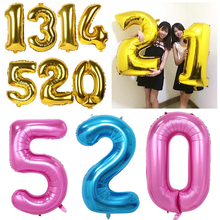 Buy 40 inch foil balloons large balloons Helium Balloon big wedding happy Birthday balloons number giant balloon Party baloon 2017 for $2.75 in AliExpress store