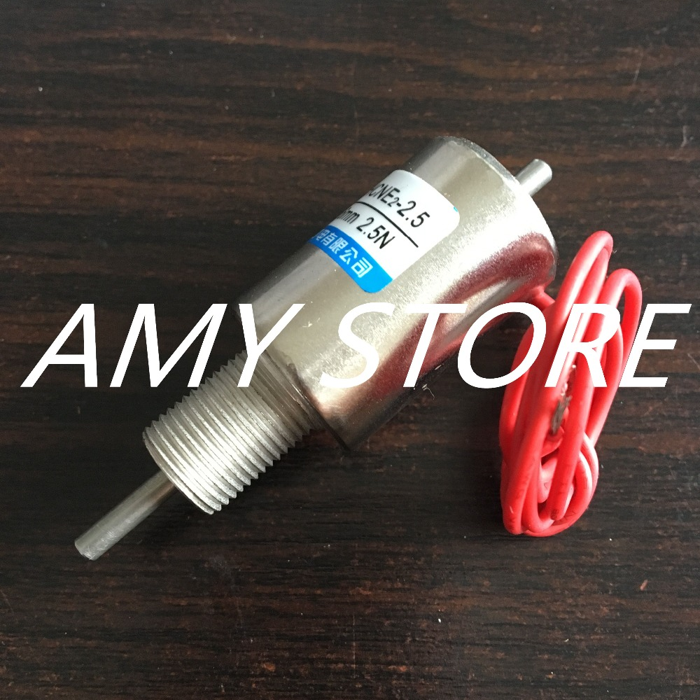 HCNE2-2.5 12V DC 6mm 2.5N Tubular Linear Motion Mini Electromagnet Solenoid Actuator Pull Push(China (Mainland))