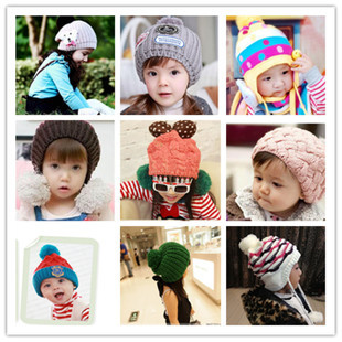 Manufacturers selling children's hat Qiu dong season warm knitted hats The new knitting wool cap(China (Mainland))