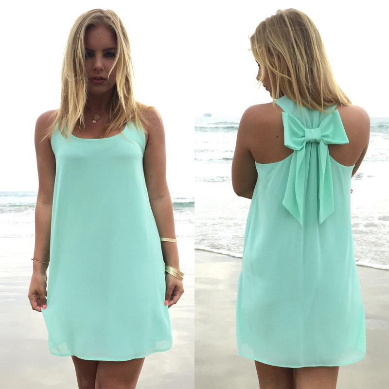 Summer dress 2016 summer style women casual sundress plus size women clothing beach dress chiffon(China (Mainland))