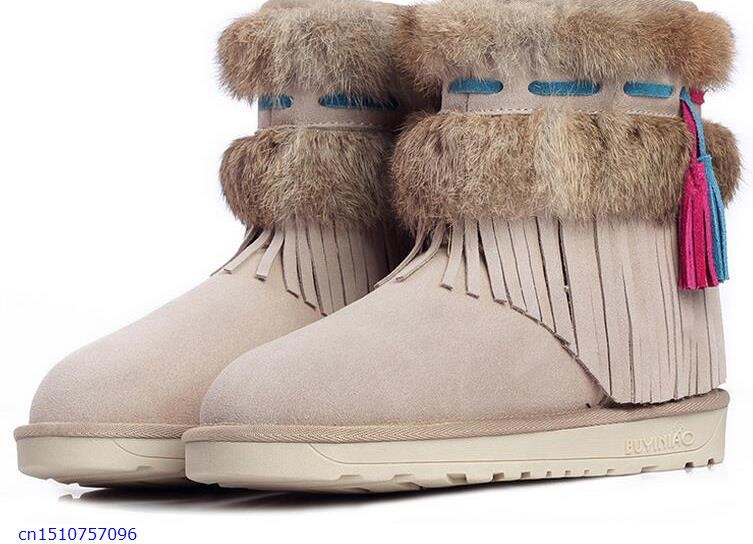 Snow boots womens shoes with short tube Angora waterproof warm women snow boots<br><br>Aliexpress