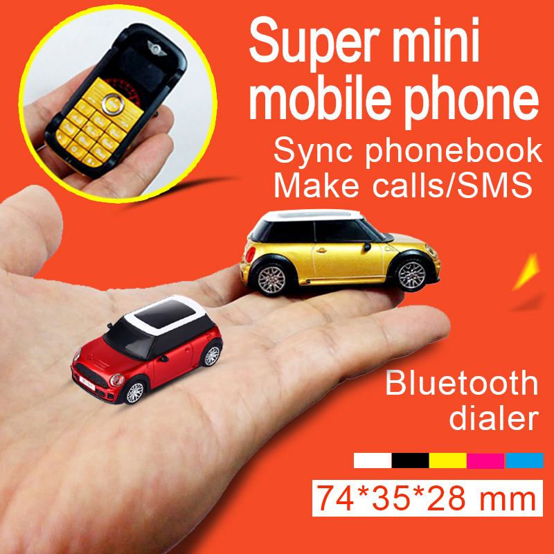 Portugue French Car model bluetooth dialer Headlight MP3 dual sim Sync phonebook smallest mini mobile phone handset P098(China (Mainland))