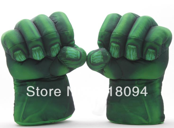 Plush Incredible Hulk Gloves 11 inch Superhero Figure Toys Children Christmas Kids Toy 1set - WXY-TOY LTD store