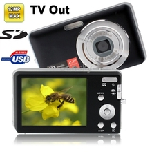 DC-E70 Black, 3.0 Mega Pixels 8X Zoom Digital Camera with 2.7 inch TFT LCD Screen, Support SD Card , TV out format: NTSC/PAL
