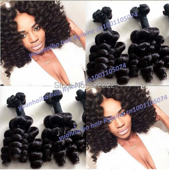 Hot Selling!Top 7a quality 1b# russian romance curl 100% virgin aunty funmi hair black women