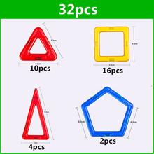 32 PCS standard size magnetic building blocks Model Building Toys Brick designer Enlighten Bricks magnetic toys(China (Mainland))