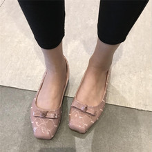 Buy silver womens flats women shoes fashion women flats slip casual shoes loafers square toe bowtie flat shoes lady XK030701 for $23.17 in AliExpress store