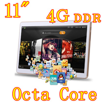 11 inch 8 core Octa Cores 1280X800 IPS DDR 4GB ram 32GB 8.0MP 3G Dual sim card Wcdma+GSM Tablet PC Tablets PCS Android4.4 7 9