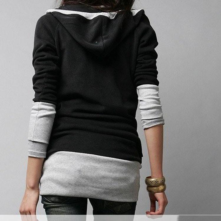 Корея женщин sweatershirts Мода длинным рукавом рубашка хлопок Толстовки пальто пуховики wf-0022\wcf
