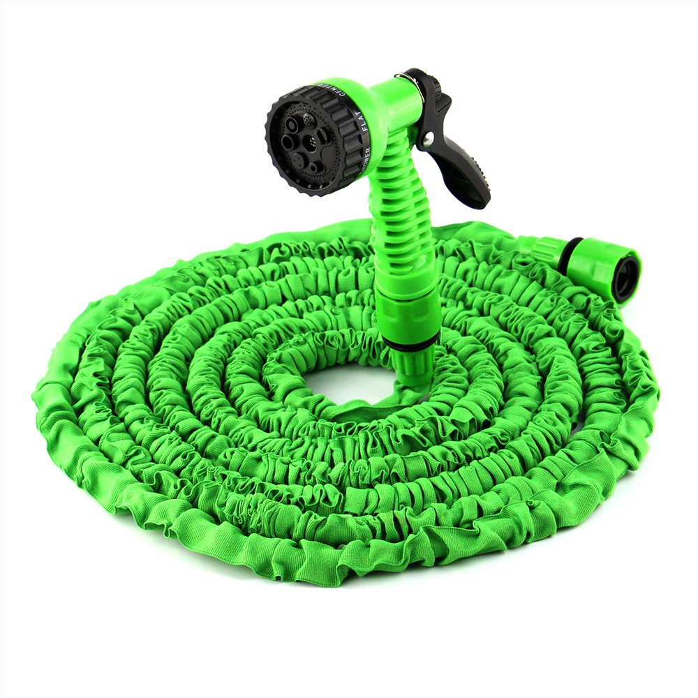 Hot Selling 25FT-200FT Expandable Magic Flexible Garden Water Hose Green Hose Plastic Hoses Pipe With Spray Gun To Watering(China (Mainland))