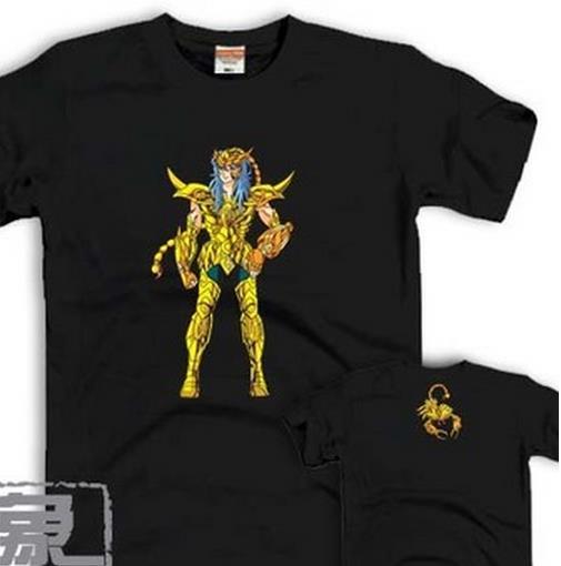 2016 Scorpio new Saint Seiya; Gold Saint 12 constellations SOLDIER DREAM; OP Athena Men and women T-shirt lovers(China (Mainland))