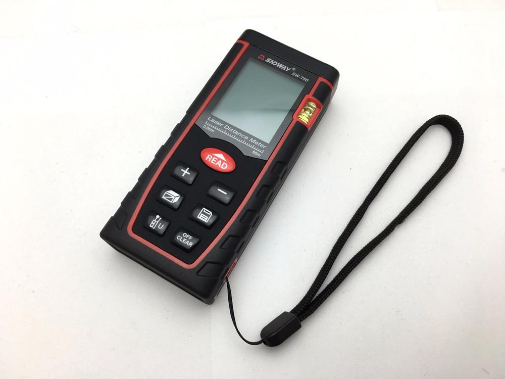 Купить Подлинная RZ60 197ft SNDWAY 60 м Цифровой лазерный дальномер дальномер дальномер Площадь объем-Угол Тестер инструмент