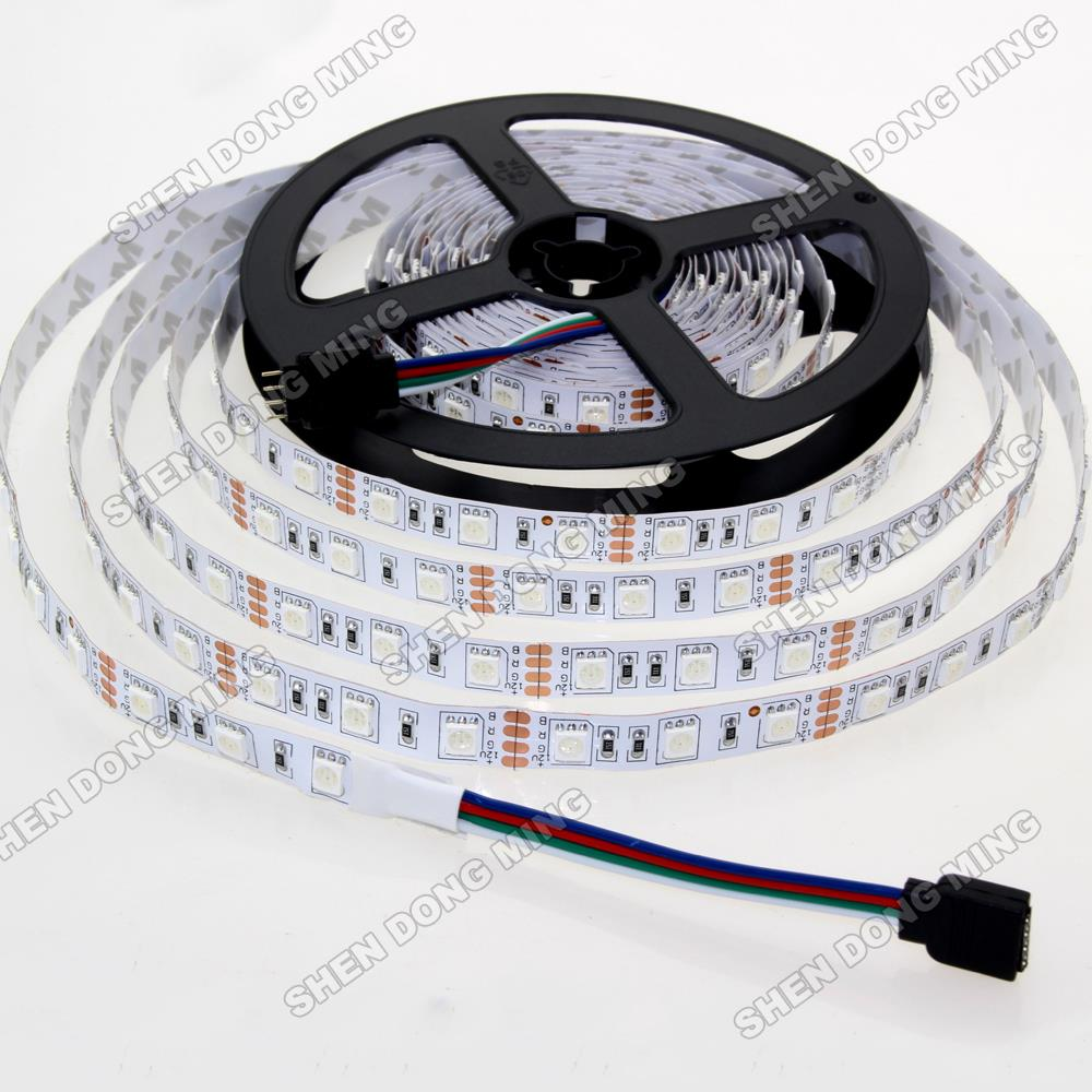 LED Strip 5050 SMD 60LEDs/M DC12V Non-waterproof RGB LED Ribbon Light Red White Yellow Green Blue Warm White(China (Mainland))