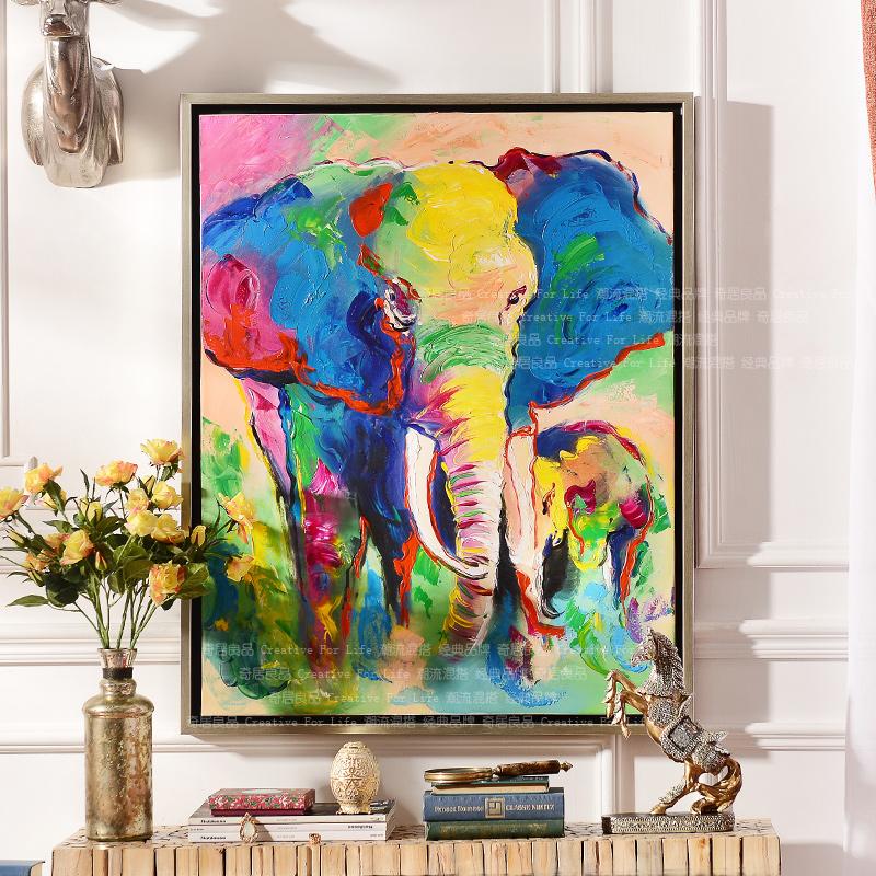 Achetez en gros l phant toile encadr e en ligne des grossistes l phant toile encadr e - Entree schilderij ...
