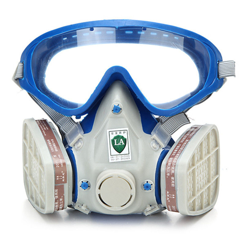 Gas Comprehensive Cover Paint Chemical Mask & Goggles Pesticide Dustproof Fire Escape respirator carbon filter mask(China (Mainland))