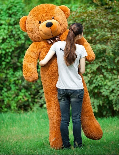 Free Shipping 200CM huge giant teddy bear animals plush stuffed toys life size kid dolls girls toy gift 2015 New arrival(China (Mainland))