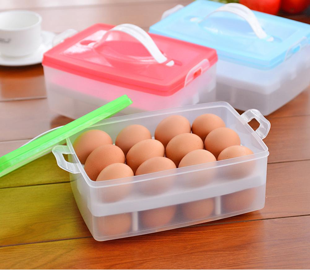 Portable Double Plastic Egg Storage Box Crisper A2 BS(China (Mainland))