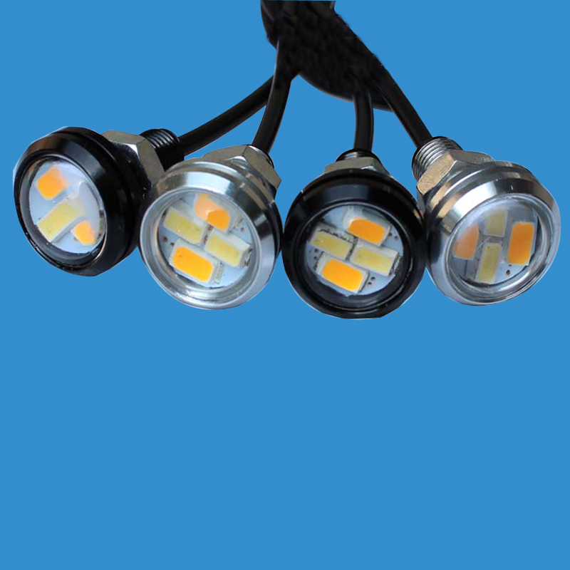 New Arrival DRL Eagle Eye 12V Daytime Running Light with Yellow Turn Signals LED Reverse Lamp