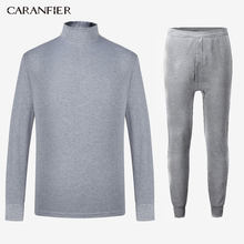 CARANFIER ฤดูหนาวยาว Johns ชายผ้าฝ้ายชุดชั้นในชุดอุ่นรัสเซียแคนาดาและยุโรปผู้หญิง + กางเกงชุด warm(China)