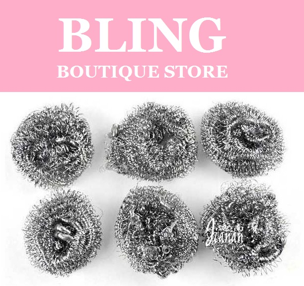 Bling Recommend Free Shipping 120pcs/lot Stainless Steel Sponge Clean & Wash Ball In Kitchen Magic Eraser For Dirty 9x8.5cm(China (Mainland))