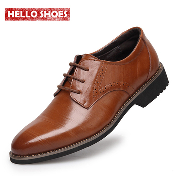 2015 New High Quality Genuine Leather Men Shoes Brogues, Lace-Up Bullock Business Men Oxfords Shoes Men Dress Shoes