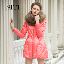 SITI in the long section of Europe jacket female fur fashion brand temperament slim down major suit Ms.(China (Mainland))