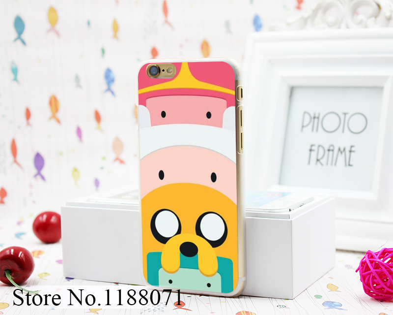 Adventure Time with Finn and Jake Design Hard Clear Skin Transparent for iPhone 6 6s 6 Plus Case Cover(China (Mainland))