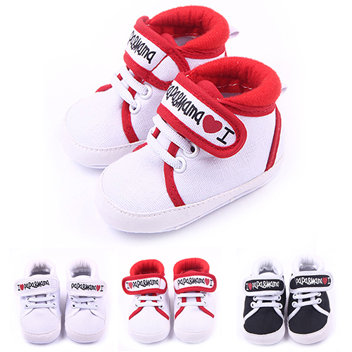 Sanwood Newborn Baby Kids Boys Girls Soft Sole Casual Canvas Sneaker Toddler Shoes 0-18M