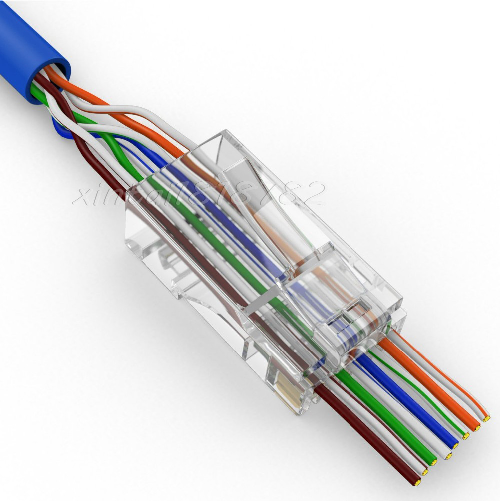Cat5e Rj45 Connector Wiring Download Diagrams Cat6 Cable 50pcs 100pcs Cat5 Network Jack Ethernet Diagram