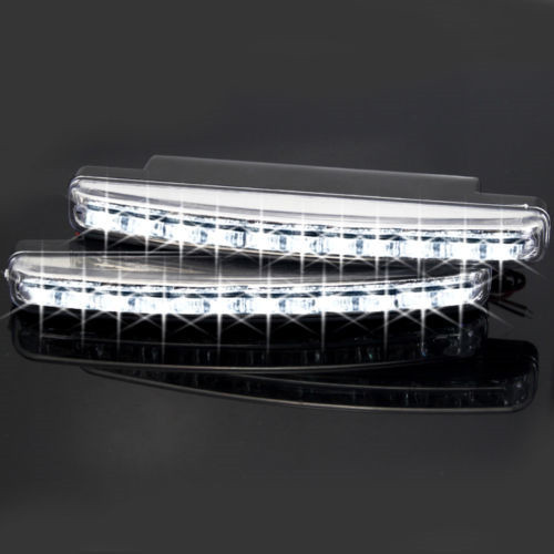Дневные ходовые огни Daytime running light DRL LED lamp for car truck SUV Van Auto 2 x 8LED SUV cawanerl 2 pieces car styling left right fog light led drl daytime running lamp white 12v for toyota camry 2006 2012