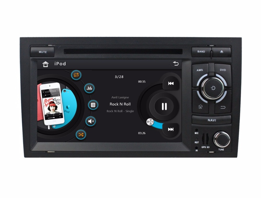 1080P HD 2 din 7 inch Car DVD Player Audi A4 2003-2011 GPS Navigation Bluetooth IPOD TV Radio /RDS AUX IN USB - Cool Auto AV store