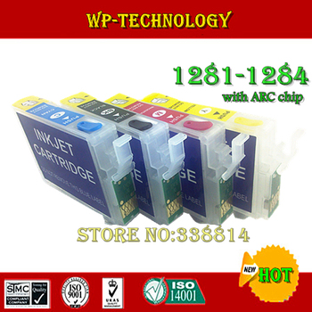 Empty Refill cartridge suit for T1281 T1282 T1283 T1284,suit for Epson S22/SX125/SX130/SX230/SX235W/SX420W/SX425W,with ARC chips