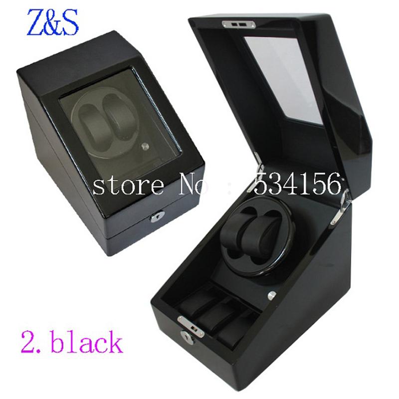 Free shipping 2016 new luxury rotary automatic rotating wooden watch winder display box high gloss piano paint watch winde(China (Mainland))