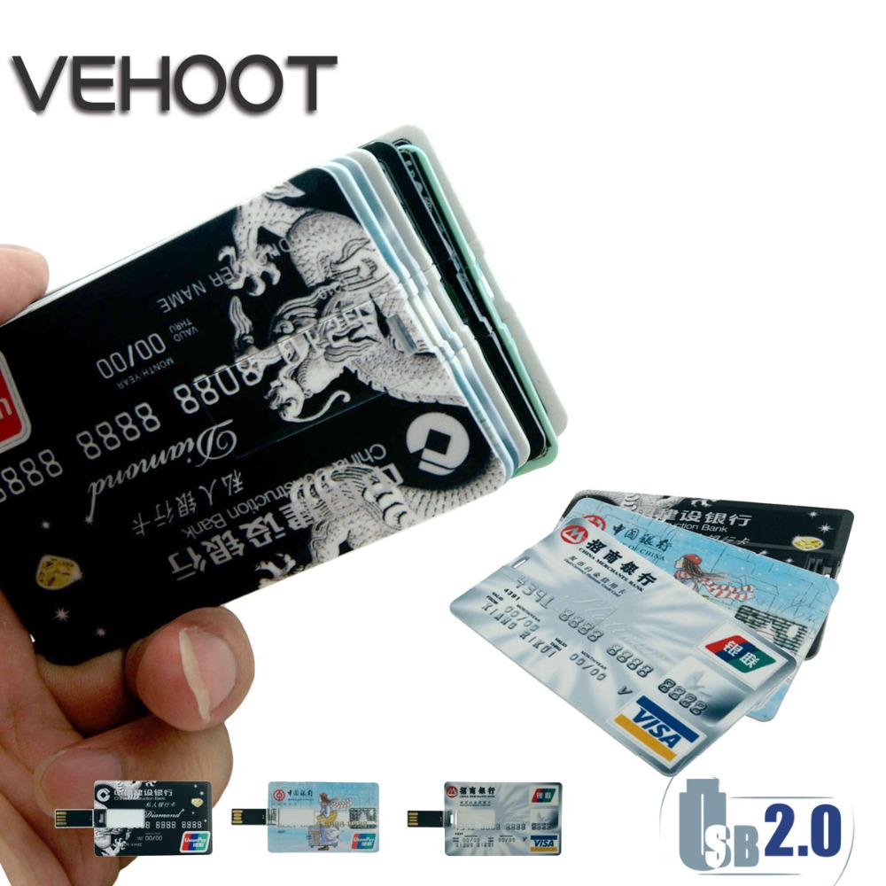 2016 Credit Card USB Flash Drive Creative Pen drive 8GB 16GB 32GB 64GB 4GB Bank Card Shape Flash Card Pendrive tarjeta de style(China (Mainland))