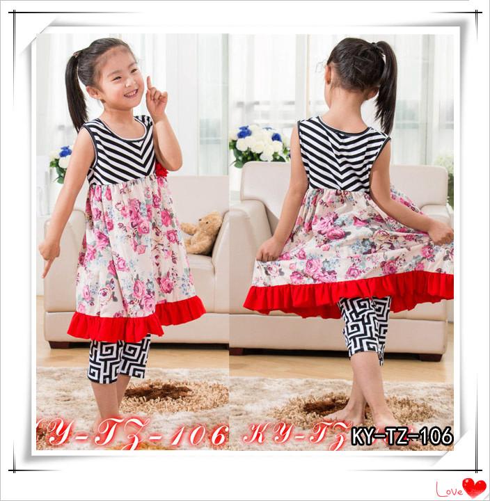 Kaiya 2015 on sale patriotic girls outfits toddler baby clothing sets dress+pants 10sets/lot Wholesale Free Shipping(China (Mainland))
