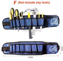 Hardware del mecánico de herramientas de la lona correa Utility Kit de bolsillo organizador de la bolsa