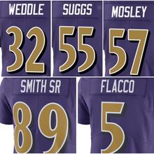 Men's #5 Joe Flacco #57 C.J. Mosley Jersey Adult #89 Steve Smith Sr #32 Eric Weddle 55 Terrell Suggs Purple Rush Limited Jerseys(China (Mainland))