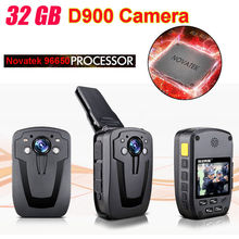 !D900 Novatek 96650 32GB Full HD 1080P Police Body Lapel Worn Video Camera Recorder DVR IR Night Cam 6-hour Record - TOSUPER store