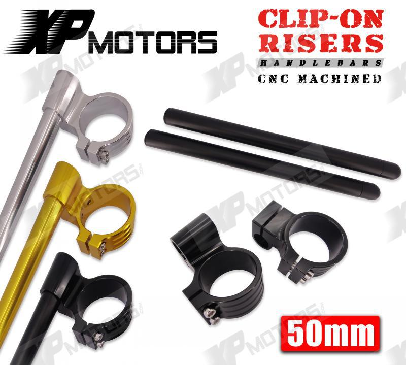 New Motorcycle 50mm CNC High Lift 1 Riser Clip On Handlebars For Yamaha FZ1 2001 2002