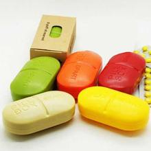 Hot Selling Delicate Medicine Weekly Storage Pill Case 7-Day Tablet Sorter Box Container Organizer 5.2*9.6*4cm (China (Mainland))