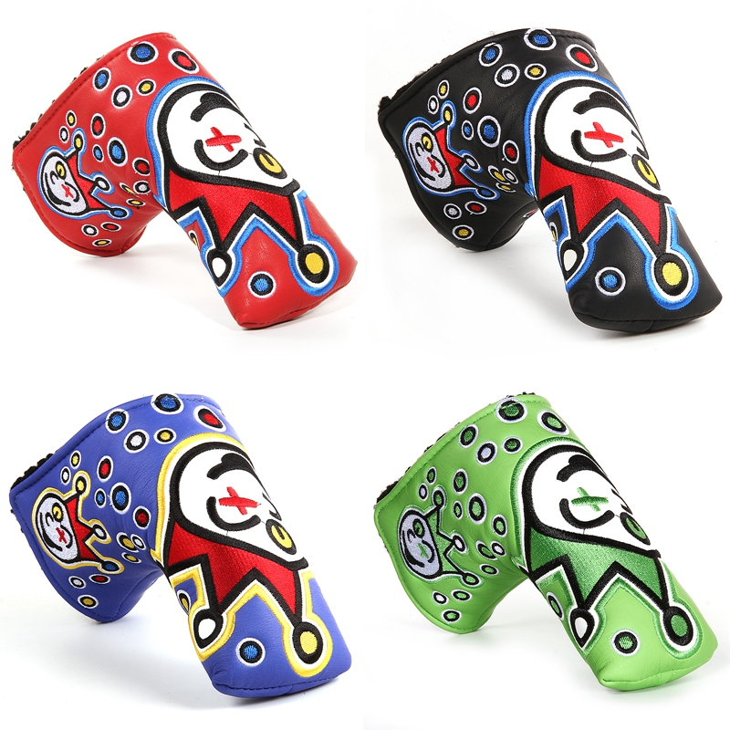 Brand New Clown Style 4colour Golf Putter Cover Headcover for Blade Golf Putter Free Shipping(China (Mainland))
