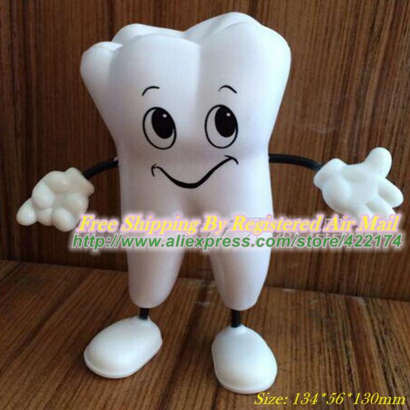 Здесь можно купить  Free Shipping Tooth Figure Squeeze Toy PU Tooth Stress Reliever Dental Promotional Gifts  Офисные и Школьные принадлежности