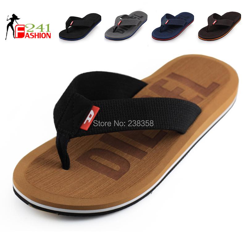 Hot Sale 2015 Flip Flops Men Leisure 5 Colors Flat Soft Beach Slippers Plus Size 41-45 Genuine Brand Flip Flops Free Shipping(China (Mainland))