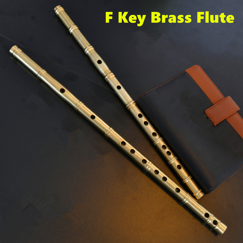 Brass Metal Flute Dizi F Key Metal Flauta Thicken Brass Chinese Flute Professional Musical Instrument Flauta Self-defense Weapon<br><br>Aliexpress