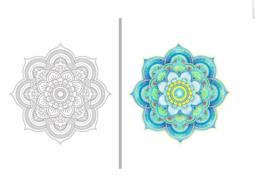 Inspiration ZEN 50 Mandalas Anti Stress Volume 3 Coloring Books For Adults Art Creative Book