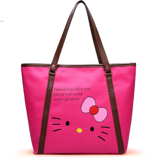 New Hello Kitty Shopping Tote Bag Purse yey-1010 Hot Pink(China (Mainland))