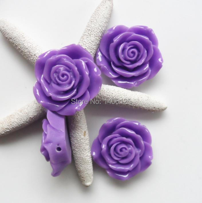 Halloween latest chunky purple resin beads flower rose cabochon beads with hole for girls Jewelry Making Retail Wholesale!(China (Mainland))